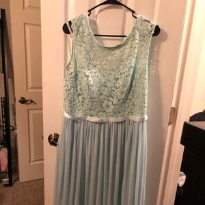 David's Bridal Bridesmaid long lace top dress
